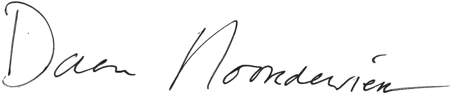 Handtekening van Daan Noorderwien
